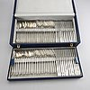 A 20th century set of 72 pcs of sterling silver cutlery marks of hugo strömdahl stockholm 1955 56, total weight 4860 gr