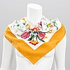 Gucci silk scarf with costume jewelry earrings