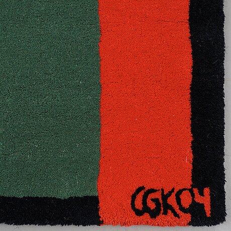 "C göran karlsson, matta, ""goran 4"", handtuftad, c göran karlsson/asplund, ca 223 x 163 cm, signerad cgk04."