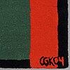 """C göran karlsson, matto, """"goran 4"""", handtufted, c göran karlsson/asplund, ca 223 x 163 cm, signed cgk04."""