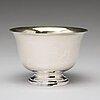 A swedish 19th century parcel-gilt silver bowl, mark of johan fredrik björnstedt, stockholm 1824.