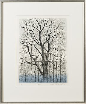 INARI KROHN, etching, signed and dated 2002, numbered 10/40.