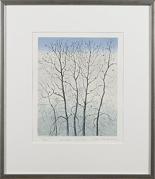 INARI KROHN, etsning, signed and dated 2002, numbered 36/40.