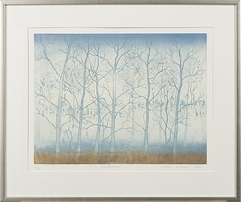 INARI KROHN, etching, signed and dated 2001, numbered 4/10.