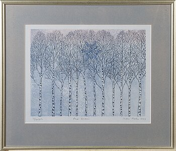 INARI KROHN, etching, signed and dated 2003.