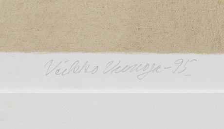 Veikko vionoja, litografi, signerad och daterad -95, numrerad 23/100.