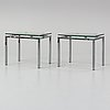 A pair of chrome side tables, second half of the 20th century.