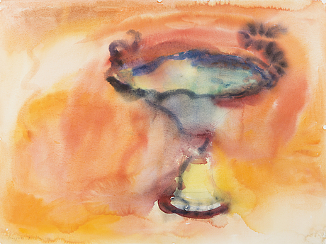 Marjukka paunila, water colour, signed, unclear date.