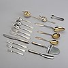 A finnish 20th century set of 71 pcs of silver cutlery, marks of Åbo different makers, total weight ca 2220 gr