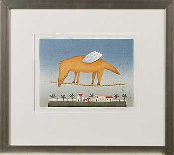 AULI WAHLBERG, serigrapoh, signed and dated -98, numbered 99/100.