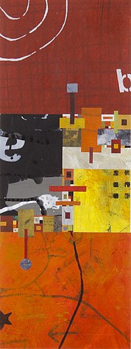 Kari sÖdÖ, collage and mixed media on paper, signed and dated 2006, numbered 1/1.
