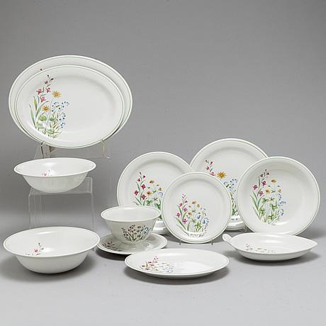 A part 'vår' dinner creamware service, from rörstrand (57 pieces).