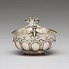 A swedish 18th century parcel-gilt silver brandy bowl, mark of hans jacob schmit, karlskrona 1718.