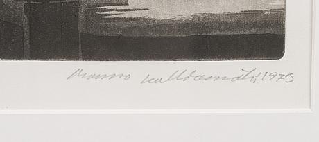 Manno kalliomÄki, etsning, signerad och daterad 1973, numrerad epreuve d'art i.