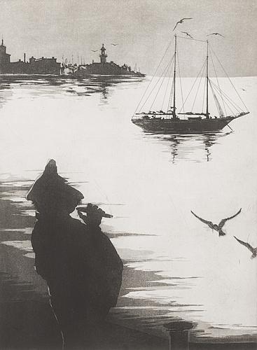 Manno kalliomÄki, etsaus, signeerattu ja päivätty 1973, merkitty epreuve d'art i.
