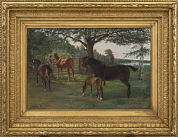 BRYNOLF WENNERBERG, oil on canvas, signed -86.