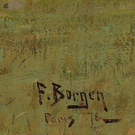 Fredrik borgen, oil on canvas laid on panel, signed and dated paris -78..