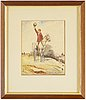 Henry james haley, watercolours, 3, signed.