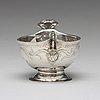 A swedish 18th century silver brandy-bowl, mark of johan rudman, gävle (1689-1727(1734)).