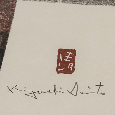 Kiyoshi saito, färgträsnitt. japan, signerad.