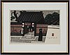 Kiyoshi saito, a colour woodblock print, signed.
