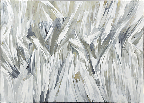 Vibeke tÖjner, oil on canvas, signed and dated 2002 verso.