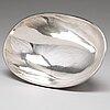 A swedish 20th century silver bowl, mark of eric råström, cgr, stockholm 1973.