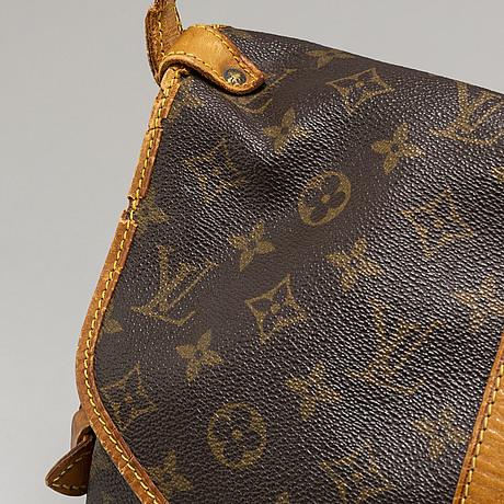Louis vuitton, a 'saumur 30' monogram canvas handbag