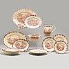 A part dinner creamware 'bengali' service, rörstrand, 1948-1956 (76 pieces).