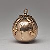 A gold and silver masonic ball and cross pendent and a freemason sign, unmarked c:a 1900.