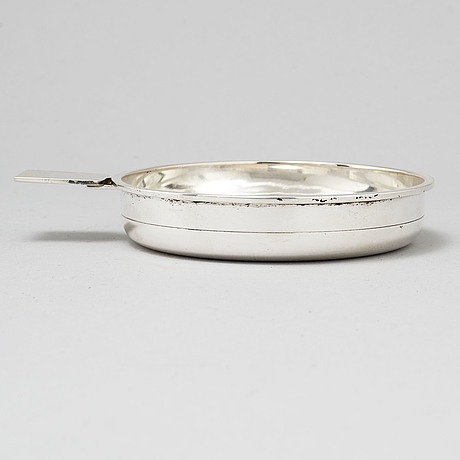 W.a. bolin, a silver coaster or serving bowl, stockholm 1966