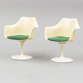 EERO SAARINEN, a pair of 'Tulip' chairs, Knoll, Switzerland.