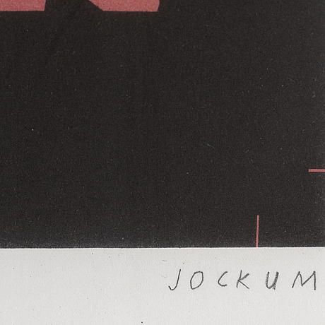 Jockum nordström, lithograph in color, signed and numbered 25/60.