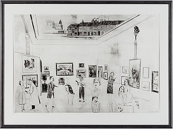 JOCKUM NORDSTRÖM, lithograph, 1999, on BFK Rives paper, signed in pencil and numbered 59/140.