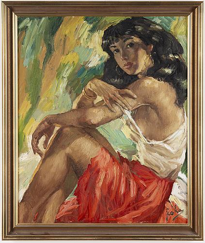 Charles roka, oil on canvas, signed.