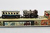 Toys - trains, arrnold and possibly jf höfler, us zone germany, latter part 1940's.