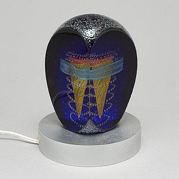MONICA BACKSTRÖM, a glass sculpture from Kosta Boda, signed.