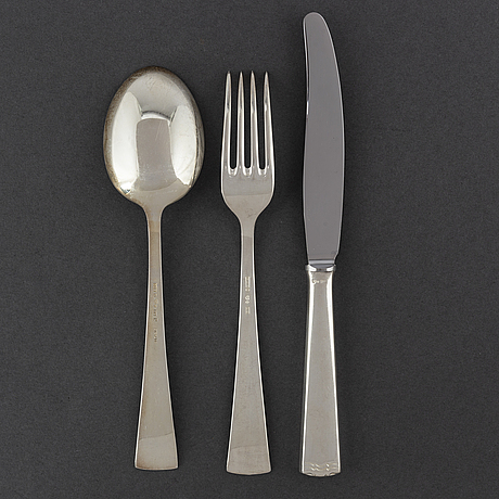 Cg hallberg and gab, a part 'diana' silver cutlery, stockholm, 1960s (36 pieces).