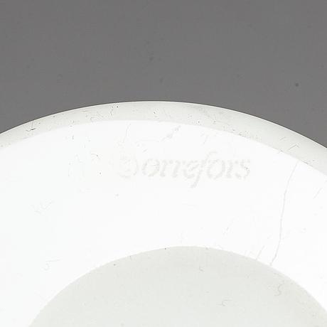 Per b sundberg, a 'kokkobello' glass vase from orrefors.