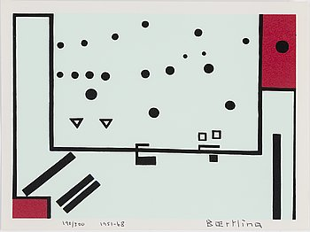 OLLE BAERTLING, silkscreen, 1951-68, signed and numbered 190/300.