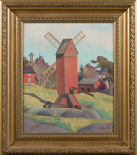 Ilmari aalto, oil on canvas, signed and dated -31.
