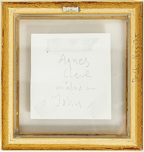 John jon-and, pencil on paper. signed with stamp.