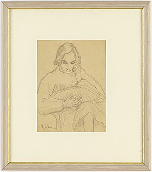 AGNES CLEVE, pencil. Signed A Cleve.