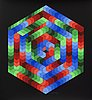 Victor vasarely, lithograph in colours signed and numbered ea ix/xxv.