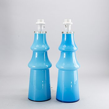 A PAIR OF TABLE LAMPS, 1970's.