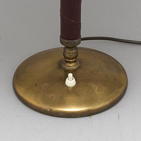 Einar bÄckstrÖm, a model 5013 brass table light, 1940's.