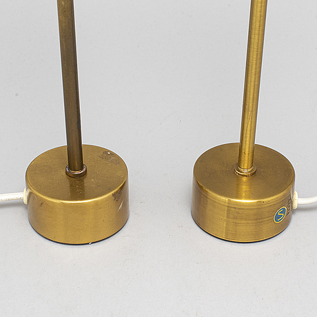 A pair of brass table lights, asea, e1173.