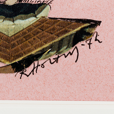 Ragnar von holten, mixed media on paper, signed and dated -72.