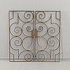 Gates, possibly cast iron, art déco.