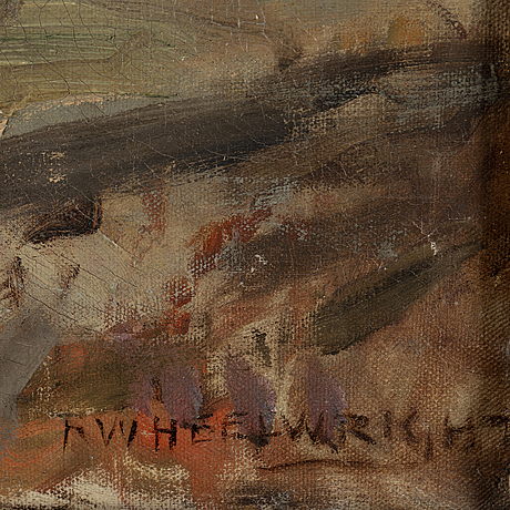 Rowland wheelwright, oil on canvas, signed.